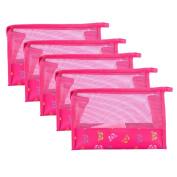 Nibito Hollow Transparent Cosmetic Handbag Travel Makeup Toiletry Bag Zip