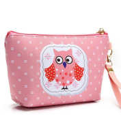 Nibito Portable Owl Cosmetic Case Pouch Zip Toiletry Organiser Travel Makeup Clutch Bag