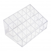 Transparent Cosmetic Makeup Organiser for Lipstick, Brushes, Bottles, and more. Clear Case Display Rack Holder