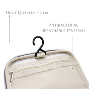 Toiletry Bag, Large Hanging Beauty Case with Handle and Hook, Cosmetic Bag for Men and Women, Size