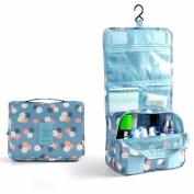 go2buy Portable Travel Makeup Cosmetic Bag Waterproof Haning Travel Kit Toiletry Bag Bathroom Organiser Carry On Case
