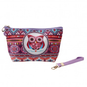 Myhouse Women Cosmetic Pouch Bag Portable Travel Toiletry Handbag Owl Pattern Coin Card Organiser