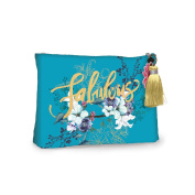 Jewel Flower Accessory Pouch Large