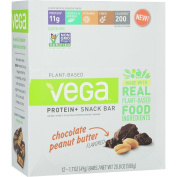 Vega Protein Plus Snack Bar - 12-Pack Chocolate/Peanut Butter, One Size