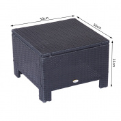 Outsunny 841-002bk 50 X 50 X 35 Cm Outdoor Garden Patio Rattan Furniture Wicker