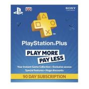 Playstation Plus Card Psn Uk 90 Day Subscription Card Ps3 & Ps Vita & Ps4 - B...