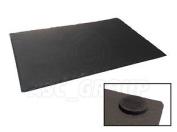Single Rectangle Slate Placemat Rustic Natural Slate Rough Cut Padded Foam Feet