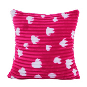 DDLBiz Fashion Plush Soft Pillow Case Sofa Waist Throw Cushion Cover Home Decor,43X43cm/16.9X16.9""