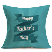 New Sale Happy Father's Day Cushion Cover,Highpot Vatious Letters & Cartoon Prints Square Throw Pillow Case Office Room Car Home Decor
