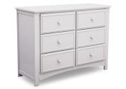Delta Children Unisex Nursery 6 Drawer Double Dresser - Bianca White