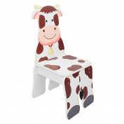 Fantasy Fields - Happy Farm Animals Thematic Kids Wooden Cow Chair   Imagination Inspiring Hand Crafted & Hand Painted Details   Non-Toxic, Lead Free Water-based Paint