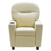 Costzon Kids Sofa Manual Recliner PU Ergonomic Lounge Chair