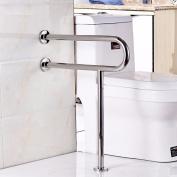 WAZZJ Bathroom safety handrails, barrier free stainless steel handrails, bathroom skid, elderly disabled handrails,60cm