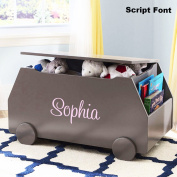 Personalised Modern Essentials Toy Box with Book Storage