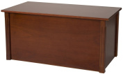 Large Cherry Wooden Toy Box and Blanket chest - All Wood - Optional Cedar Base