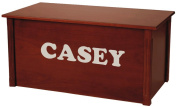 Wood Toy Box, Large Cherry Toy Chest, Personalised Cookie Font, Custom Options