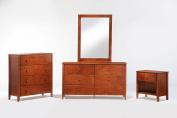 Night & Day Furniture Zest Nightstand in Cherry Finish, Small