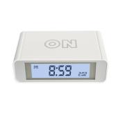 Flip alarm clock,Digital Alarm Clock Travel Alarm Clock With Flip On/Off Function ,Backlight/Snooze,Touch Sensor Nightlight,White for Students