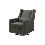 Babyletto Kiwi Electronic Recliner and Swivel Glider with USB Port, Charcoal