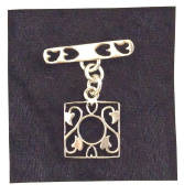 Imagine If…925 Sterling Silver Bali Style Toggle-Square, Floral