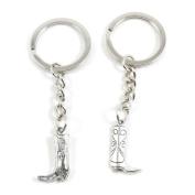2 x Keychain Keyring Key Ring Chain Jewellery Findings W3TZ9 Womens Boot