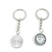 50 x Keychain Keyring Key Ring Chain Jewellery Findings A7IP0 Clock Pocket Watch