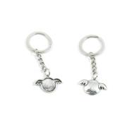 2 x Keychain Keyring Key Ring Chain Jewellery Findings L4BI2 Love Wings