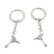 2 x Keychain Keyring Key Ring Chain Jewellery Findings Q6AY3 Hair Dryer