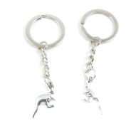 10 x Keychain Keyring Key Ring Chain Jewellery Findings L6ZR7 Kangaroo Mother And Child