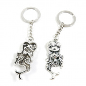 10 x Keychain Keyring Key Ring Chain Jewellery Findings V7JI3 Mermaid