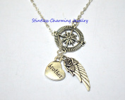 compass Guardian Angel Wing Brother In Heaven Memory Y Lariat Necklace