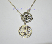 Compass Necklaces, Four Seasons necklace, Sabbat pendant, Wiccan necklace, witches necklace, pagan jewellery
