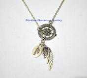 Compass Best Friends Necklaces, wing pendant , Inspirational jewellery ,guardian angel ,Angel Wings Necklace, Everyday Necklace