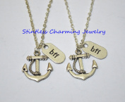 Best friend necklaces, Couple necklace set, anchor charm, bff necklace,friendship jewellery, friends, anchor necklace set