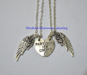 2 Partners in Crime, Angel Wing- Best Friends Necklaces/ Bff jewery, bff, Gift ideas, Best Friend Gift, Bff Gift, Friendship Necklace