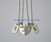2 Partners in Crime, BFF Necklaces/ Bff jewellery, Friendship Necklace, gift ideas, best friend gift, bff gift