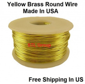 22 ga Brass Round Wire 0.5kg = 150m Spool / Soft Yellow #260 Brass