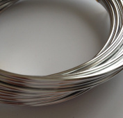 Silver Plated Beading Wire Loop Jewellery Making Necklace Bracelet 2mm Aluminium 1A