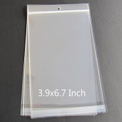 200pcs Clear Mini Small Plastic Bags Hanging Hole for jewellery Self Adhesive Seal OPP Package bag