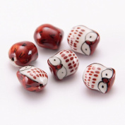 Cute Owl Porcelain Ceramic Spacer Loose Beads Craft Finding Jewellery Making DIY