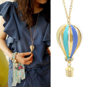 Sinfu Necklace Women Colourful Jewellery Aureate Drip Hot Air Balloon Pendant Long Necklace