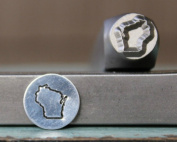 8mm Wisconsin US State Metal Punch Design Jewellery Stamp