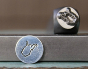 8mm West Virginia US State Metal Punch Design Jewellery Stamp