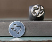 8mm Texas US State Metal Punch Design Jewellery Stamp