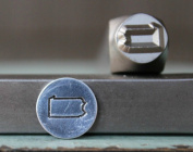 8mm Pennsylvania US State Metal Punch Design Jewellery Stamp