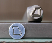 8mm Missouri US State Metal Punch Design Jewellery Stamp