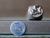 8mm Louisiana US State Metal Punch Design Jewellery Stamp
