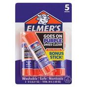 Elmer's School Glue Sticks 5ct - Disappearing Purple