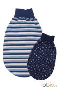 Popolini iobio Cotton Fleece Baby Sleeping Bag Swaddle/Reversible Organic Cotton GOTS 100% k.b.a. Ring Blue