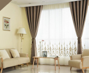Curtains Super Soft Solid Thermal Insulated Blackout Curtains Noise Reduction Anti-UV Curtains Thickened Curtains Bedroom Living Room Balcony Perforated Curtains (one pair)